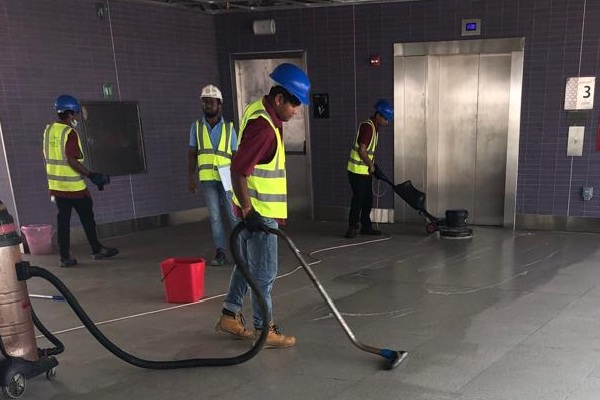 Metro Station cleaning qatar